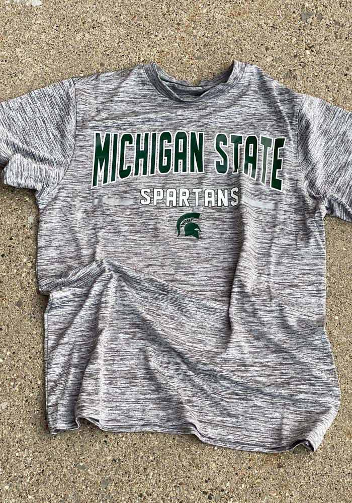 Colosseum Michigan State Spartans Grey Born N Raised Short Sleeve T Shirt - Image 2