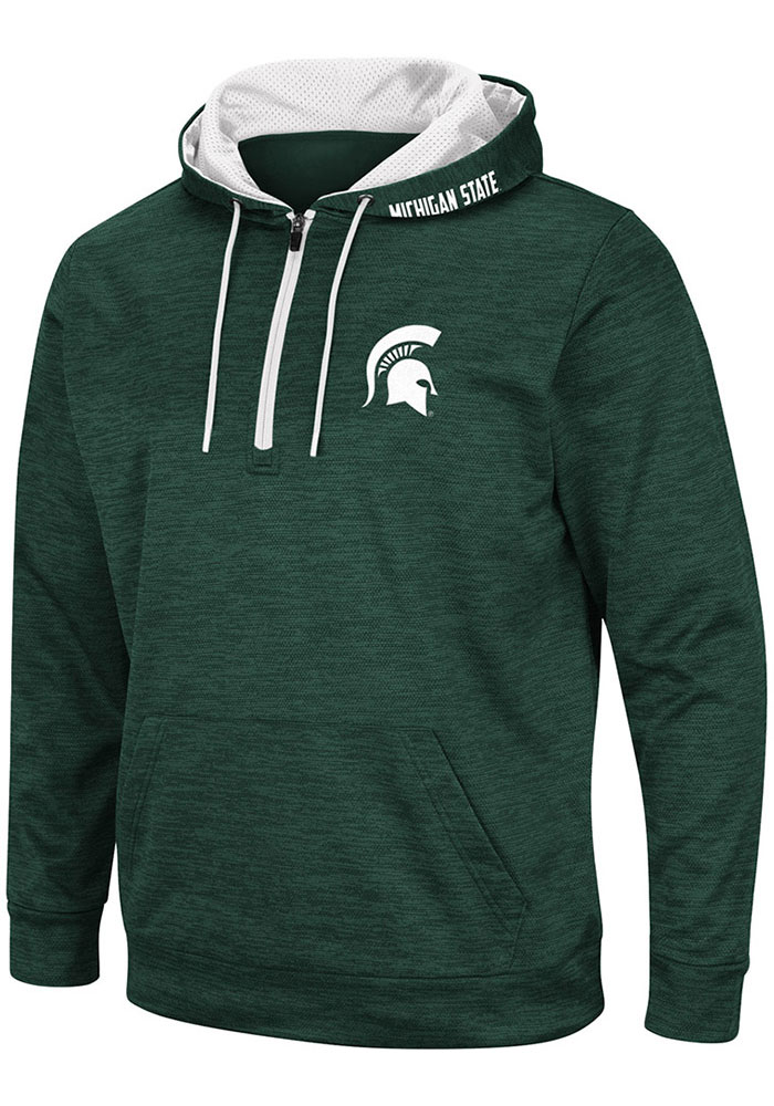 Colosseum Michigan State Spartans Mens Green Marled Hood - Image 1