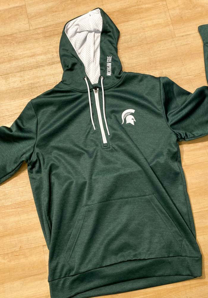 Colosseum Michigan State Spartans Mens Green Marled Hood - Image 2