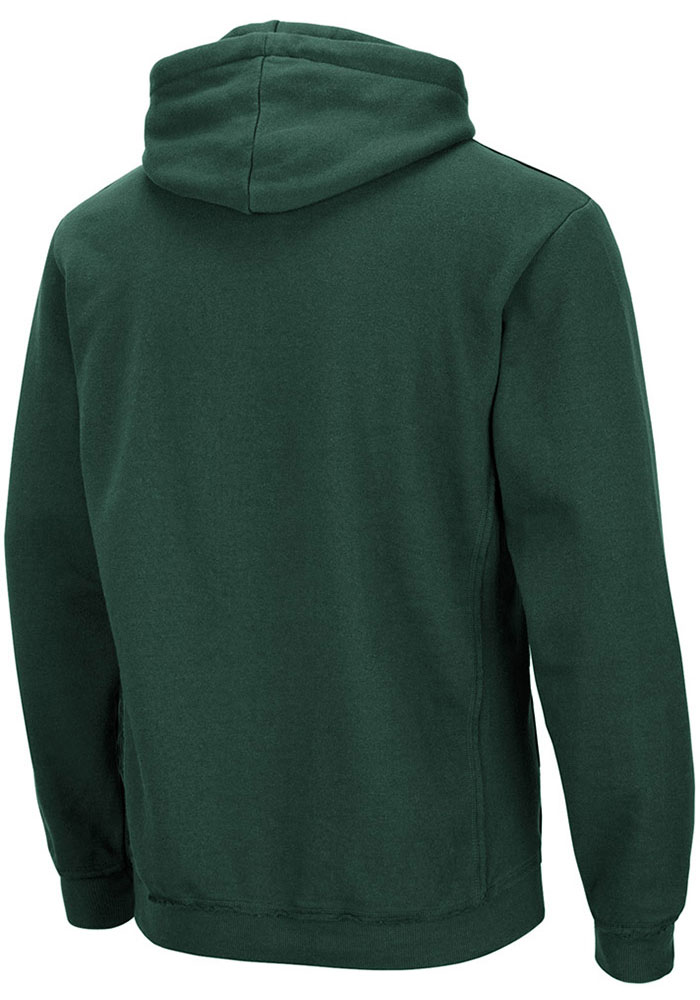 Colosseum Michigan State Spartans Mens Green Rebel Long Sleeve Hoodie - Image 2