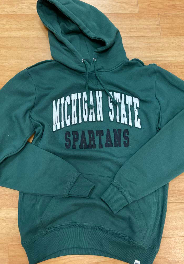 Colosseum Michigan State Spartans Mens Green Rebel Long Sleeve Hoodie - Image 3