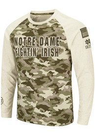 Notre Dame Fighting Irish Colosseum Operation Hat Trick Camo Raglan T Shirt - Grey
