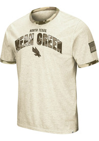 North Texas Mean Green Colosseum Operation Hat Trick Camo Ringer T Shirt - Grey