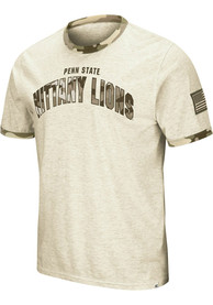 Penn State Nittany Lions Colosseum Operation Hat Trick Camo Ringer T Shirt - Grey
