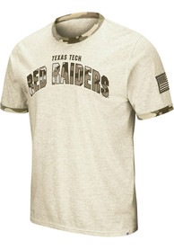 Texas Tech Red Raiders Colosseum Operation Hat Trick Camo Ringer T Shirt - Grey
