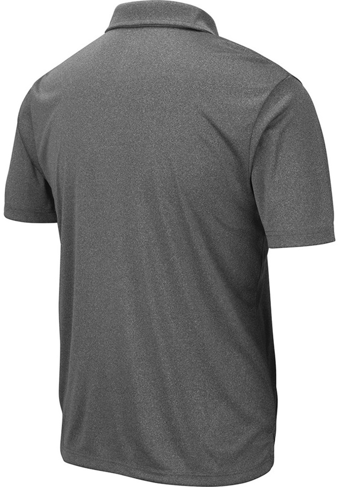 Colosseum North Texas Mean Green Mens Grey Smithers Short Sleeve Polo - Image 2