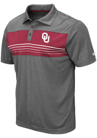 Colosseum Oklahoma Sooners Charcoal Smithers Short Sleeve Polo Shirt