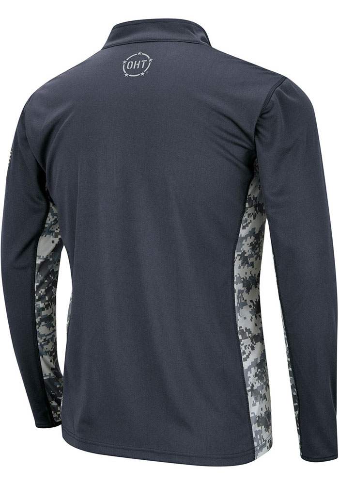 Colosseum Penn State Nittany Lions Mens Grey Operation Hat Trick Camo Long Sleeve 1/4 Zip Pullover - Image 2