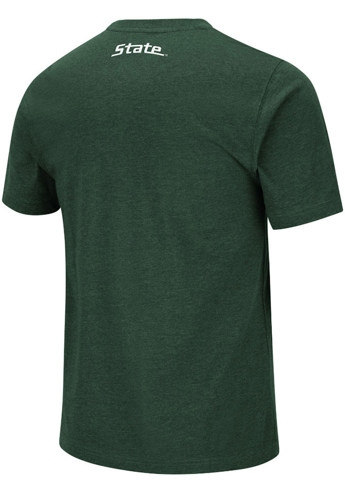 Colosseum Michigan State Spartans Green Swanson Short Sleeve T Shirt - Image 2