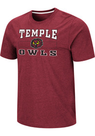 Temple Owls Colosseum Swanson T Shirt - Red