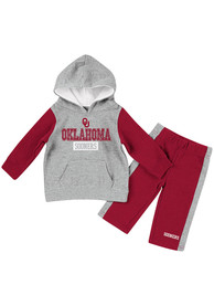 Oklahoma Sooners Infant Colosseum We Got Us Top and Bottom - Grey