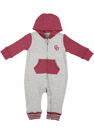 Oklahoma Sooners Baby Colosseum Axel One Piece - Grey