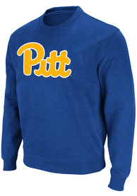 Pitt Panthers Colosseum Stadium Crew Crew Sweatshirt - Blue