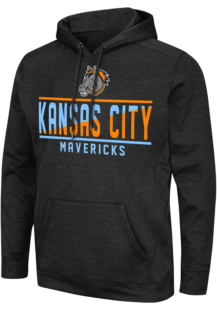 Colosseum Kansas City Mavericks Mens Black Swarley Hood - Image 1