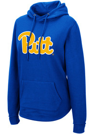 Pitt Panthers Womens Colosseum Crossover Hooded Sweatshirt - Blue