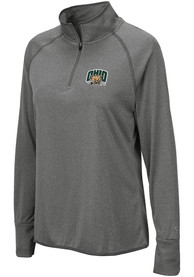 Ohio Bobcats Womens Colosseum Bailey 1/4 Zip - Grey
