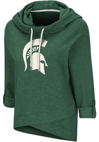 Michigan State Spartans Womens Colosseum Leslie Pullover Hooded Sweatshirt - Green