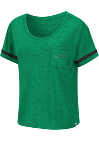 North Texas Mean Green Womens Colosseum Waffles Meet Greet Scoop T-Shirt - Green
