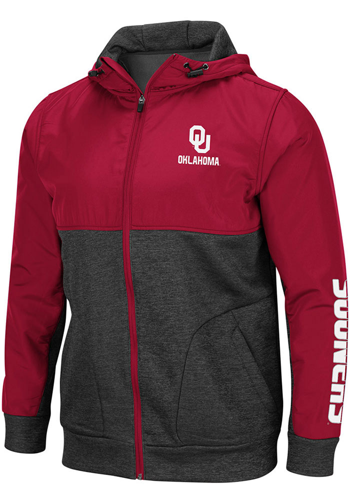 Colosseum Oklahoma Sooners Mens Cardinal Buster Light Weight Jacket - Image 1