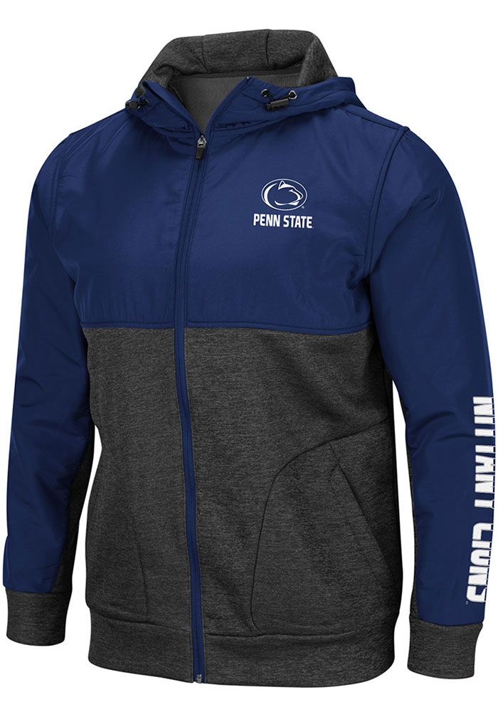 Colosseum Penn State Nittany Lions Mens Navy Blue Buster Light Weight Jacket - Image 1