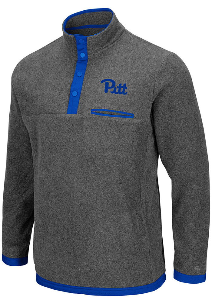 Colosseum Pitt Panthers Mens Grey Carter Long Sleeve 1/4 Zip Pullover - Image 1