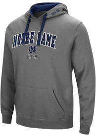 Notre Dame Fighting Irish Colosseum Manning Hooded Sweatshirt - Charcoal