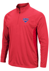 SMU Mustangs Colosseum Kliff 1/4 Zip Pullover - Red