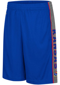 Colosseum Kansas Jayhawks Youth Blue Copepod Shorts