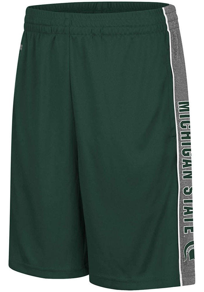 Colosseum Michigan State Spartans Youth Green Copepod Shorts - Image 1