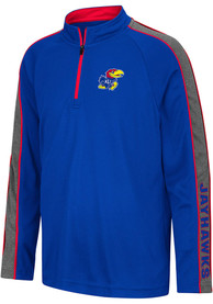 Kansas Jayhawks Youth Colosseum Clamu Quarter Zip - Blue
