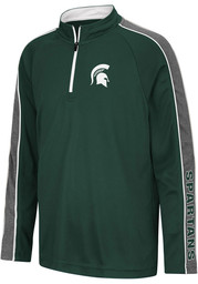 Colosseum Michigan State Spartans Youth Green Clamu Long Sleeve Quarter Zip Shirt