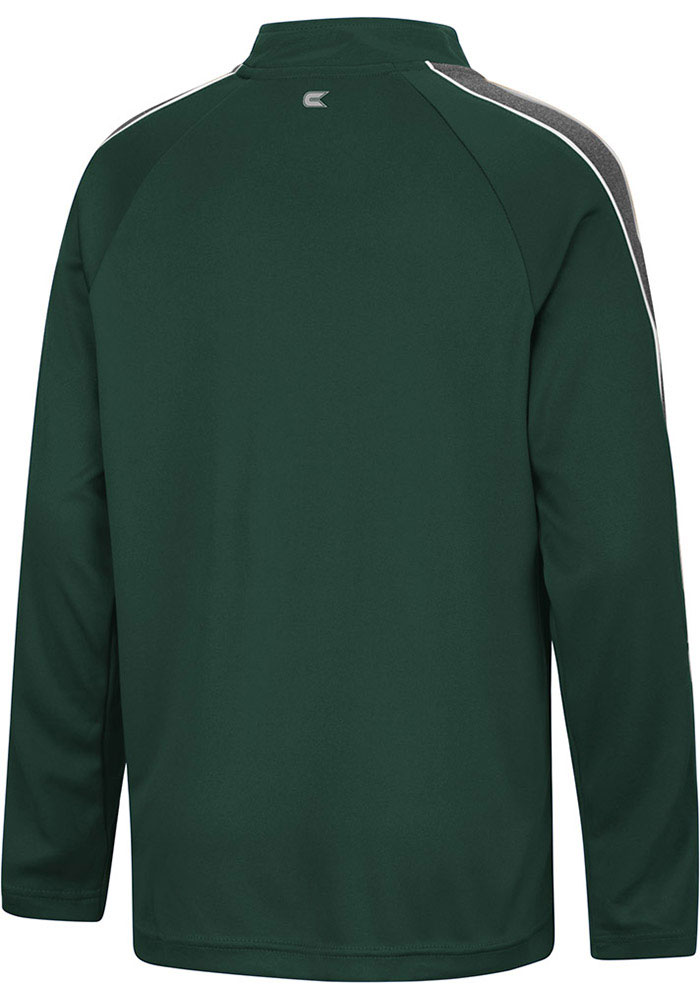 Colosseum Michigan State Spartans Youth Green Clamu Long Sleeve Quarter Zip Shirt - Image 2