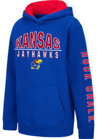 Kansas Jayhawks Youth Colosseum Karate Hooded Sweatshirt - Blue