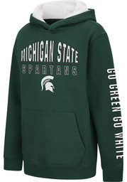 Colosseum Michigan State Spartans Youth Green Karate Long Sleeve Hoodie
