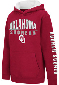 Oklahoma Sooners Youth Colosseum Karate Hooded Sweatshirt - Cardinal