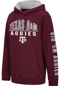 Texas A&M Aggies Youth Colosseum Karate Hooded Sweatshirt - Maroon