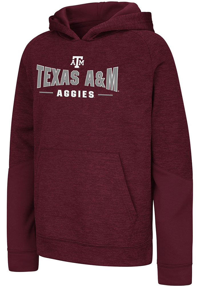 Colosseum Texas A&M Aggies Youth Maroon Pods Long Sleeve Hoodie - Image 1
