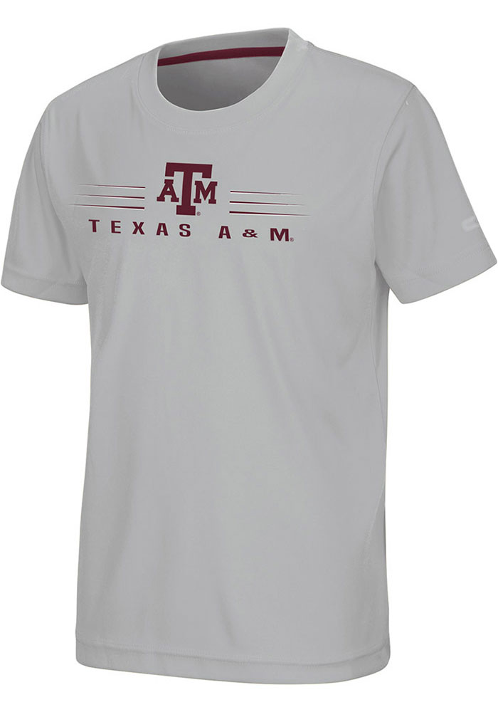 Colosseum Texas A&M Aggies Youth Grey Fish Bowl Short Sleeve T-Shirt - Image 1