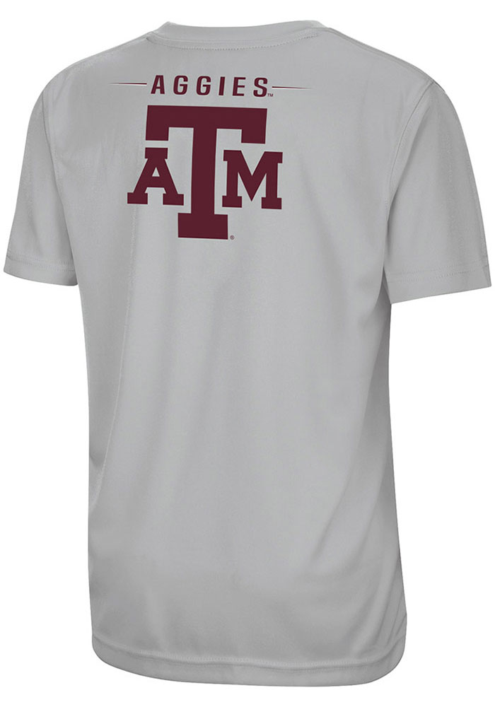 Colosseum Texas A&M Aggies Youth Grey Fish Bowl Short Sleeve T-Shirt - Image 2