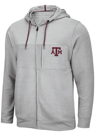 Texas A&M Aggies Colosseum Challenge Accepted Zip - Grey