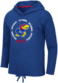 Kansas Jayhawks Girls Colosseum Boating School Long Sleeve T-shirt - Blue