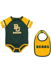 Baylor Bears Baby Colosseum Warner One Piece with Bib - Green