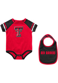 Texas Tech Red Raiders Baby Colosseum Warner One Piece with Bib - Red