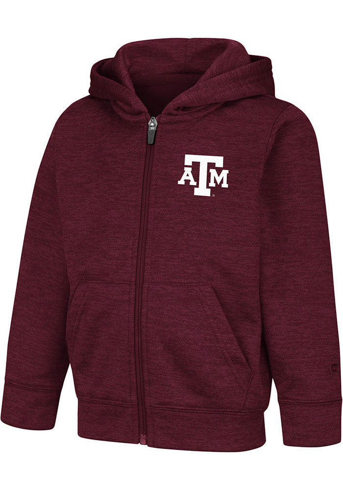 Colosseum Texas A&M Aggies Toddler Gary Long Sleeve Full Zip Sweatshirt - Maroon - Image 1