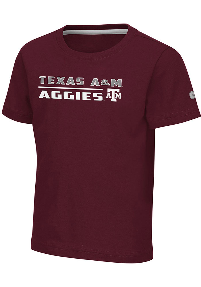 Colosseum Texas A&M Aggies Toddler Maroon Patrick Short Sleeve T-Shirt - Image 1