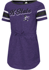 K-State Wildcats Toddler Girls Colosseum Pineapple Dresses - Purple