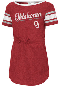 Oklahoma Sooners Toddler Girls Colosseum Pineapple Dresses - Cardinal