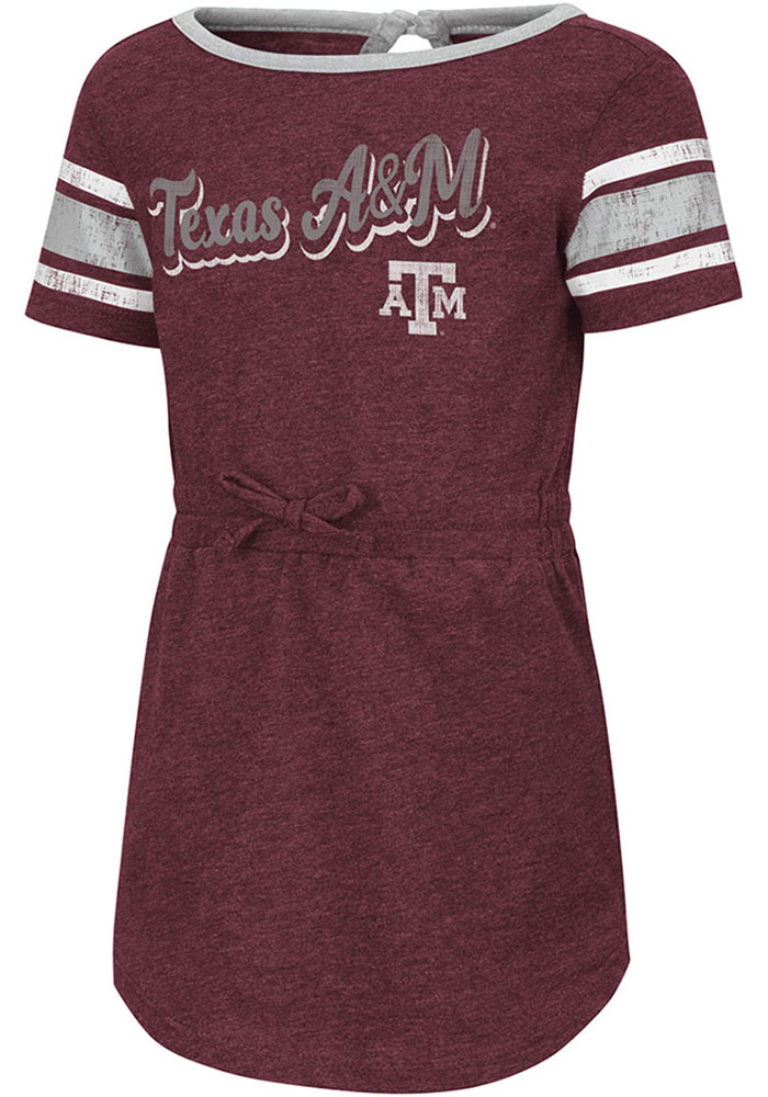 Colosseum Texas A&M Aggies Toddler Girls Maroon Pineapple Short Sleeve Dresses - Image 1