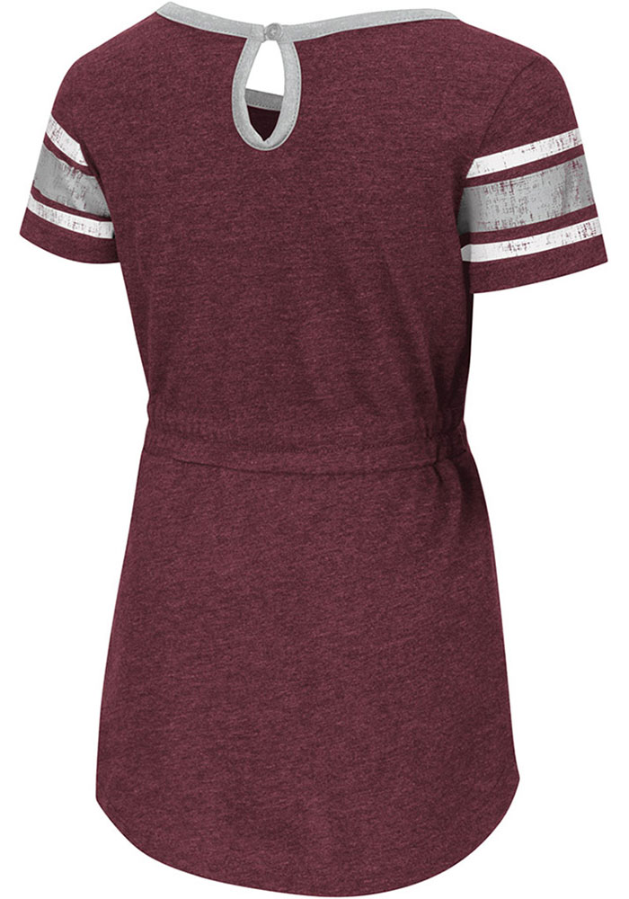 Colosseum Texas A&M Aggies Toddler Girls Maroon Pineapple Short Sleeve Dresses - Image 2