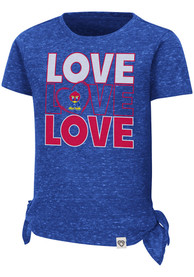 Kansas Jayhawks Toddler Girls Colosseum Bossy Boots T-Shirt - Blue